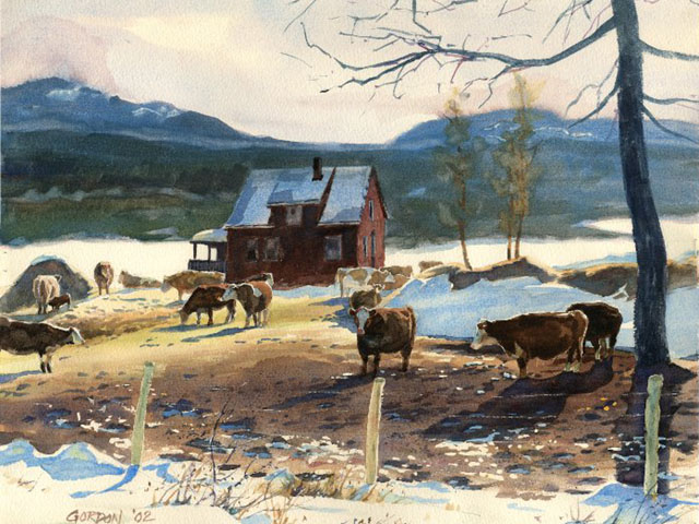 Chilcotin Cows – Watercolor Painting