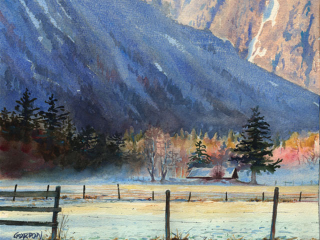 Bella Coola Winter – Watercolor Painting